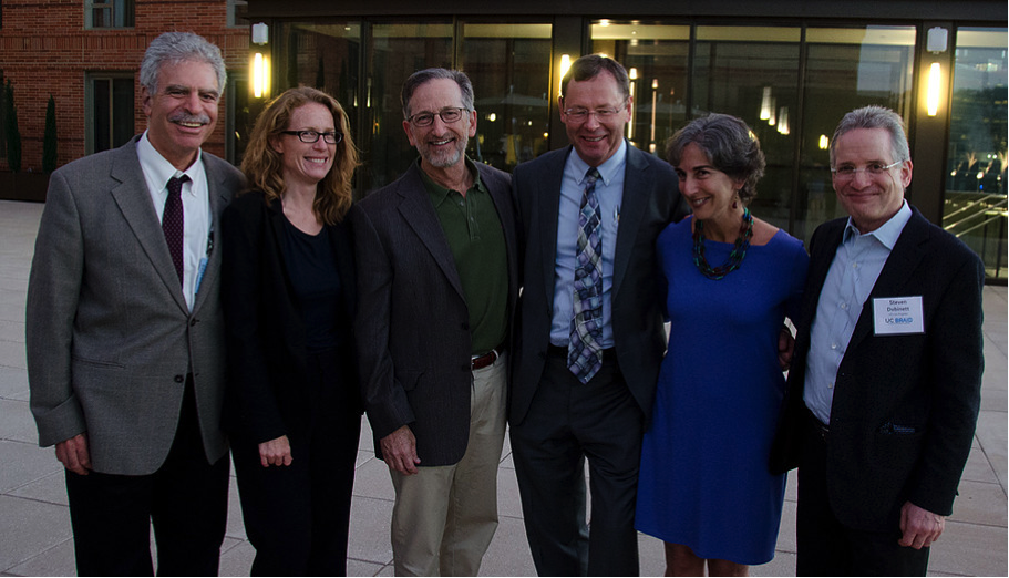 UC BRAID Executive Committee members (from left): Dan M. Cooper, MD (UCI), Rachael Sak, BSN, MPH (BRAID Director), Gary S. Firestein, MD (UCSD), Lars Berglund, MD, PhD (UCD, BRAID Chair), Jennifer Grandis, MD (UCSF), Steven M. Dubinett, MD (UCLA).