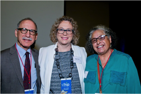 SFHIP steering committee members Kevin Grumbach, MD of UCSF (left), Abbie Yant, RN, MA of Dignity Health (center) and Estela Garcia, DHM of Instituto Familiar de la Raza (right)