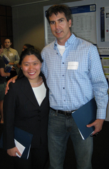 Resident Hangyul Chung-Esaki, MD, and the  Mentor of the Year Robert Rodriguez,