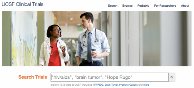 UCSF Clinical Trials homepage